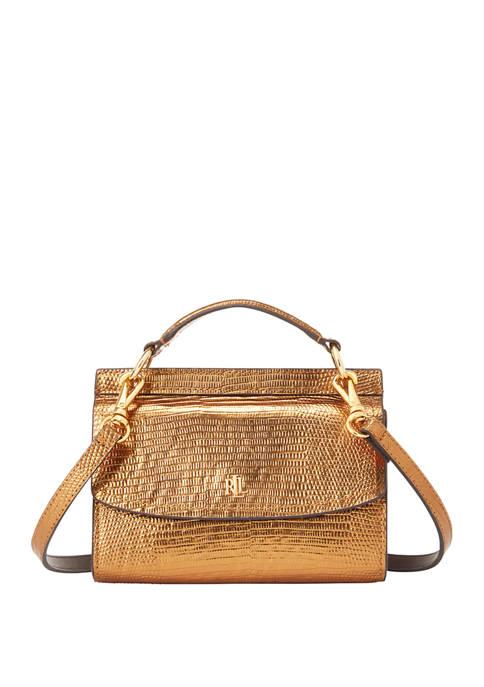 Lauren Ralph Lauren Lizard Embossed Leather Belt Bag
