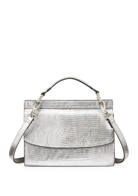 Lauren Ralph Lauren Lizard-Embossed Leather Belt Bag