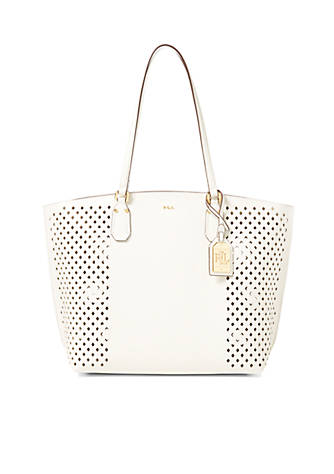 f09f80109b4e Lauren Ralph Lauren. Lauren Ralph Lauren Diamond-Perforated Tanner Tote