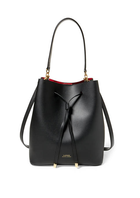Leather Debby Drawstring Bag