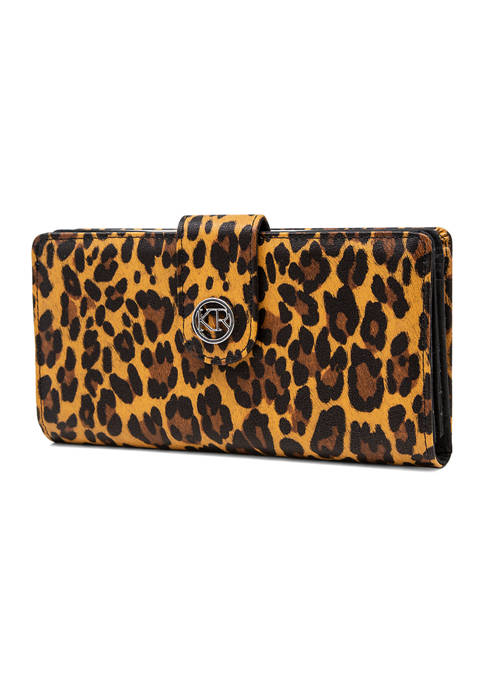 Kim Rogers® Leopard Frame Clutch
