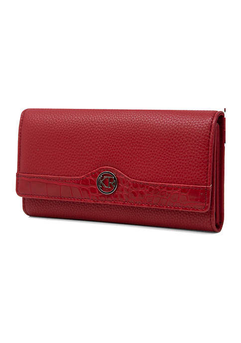 Kim Rogers® Pebble Croc Trim Full Function Clutch