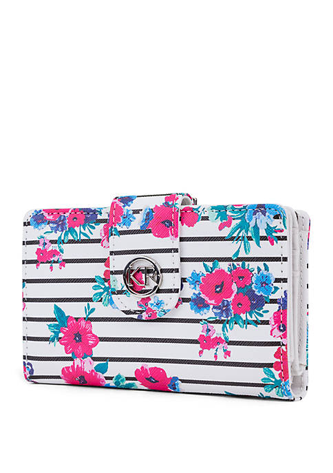 Kim Rogers® Multi Floral Indexer Wallet