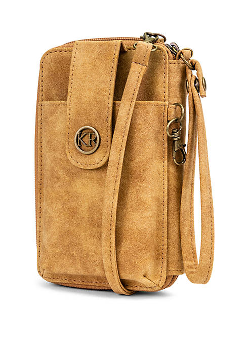 Suede Wristlet and Crossbody