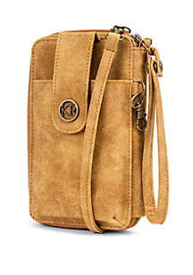 Kim Rogers® Suede Wristlet and Crossbody