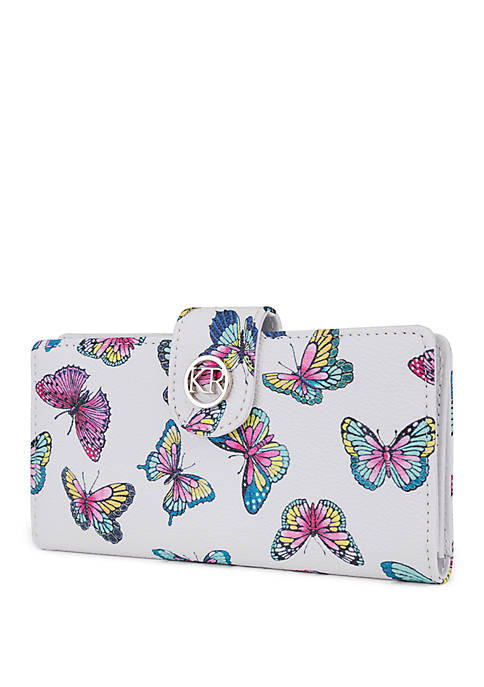 Butterfly Slim Clutch Wallet with Tab