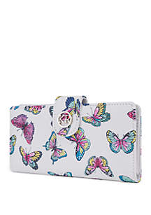 Kim Rogers® Butterfly Slim Clutch Wallet with Tab