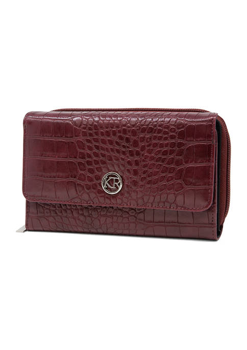 Kim Rogers® Croco Essentials Wallet