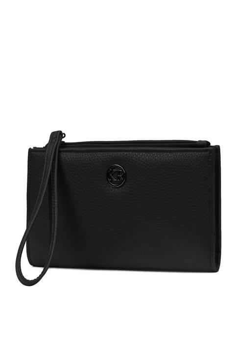 Pebble Zip Wristlet Clutch Bag