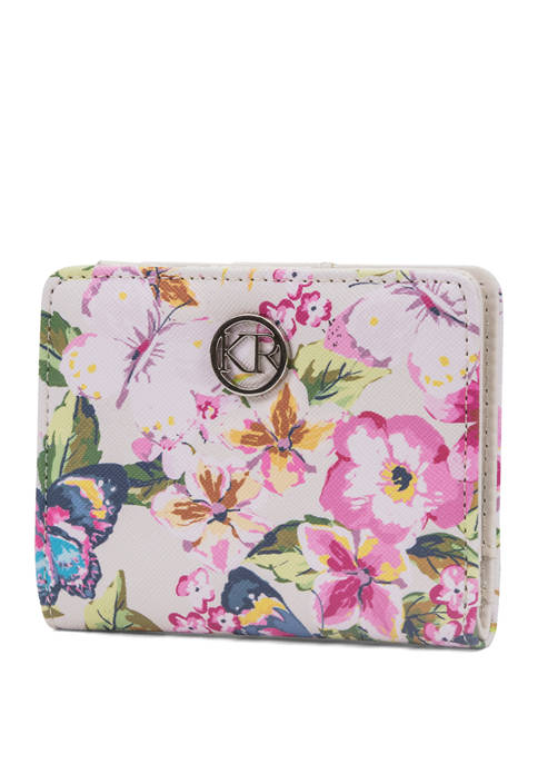Flutter and Flowers Mini Bifold Wallet