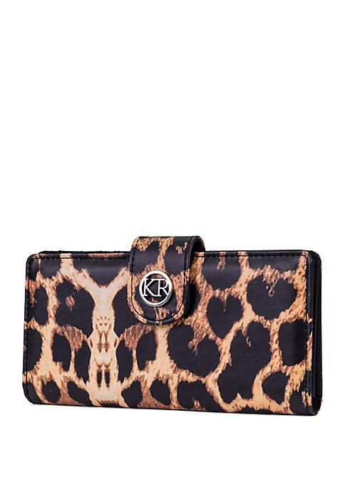 Kim Rogers® Leopard Slim Clutch with Tab