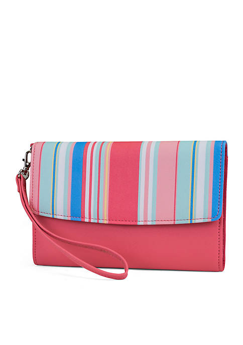 Kim Rogers® Raleigh Stripe Backup Buddy Wristlet
