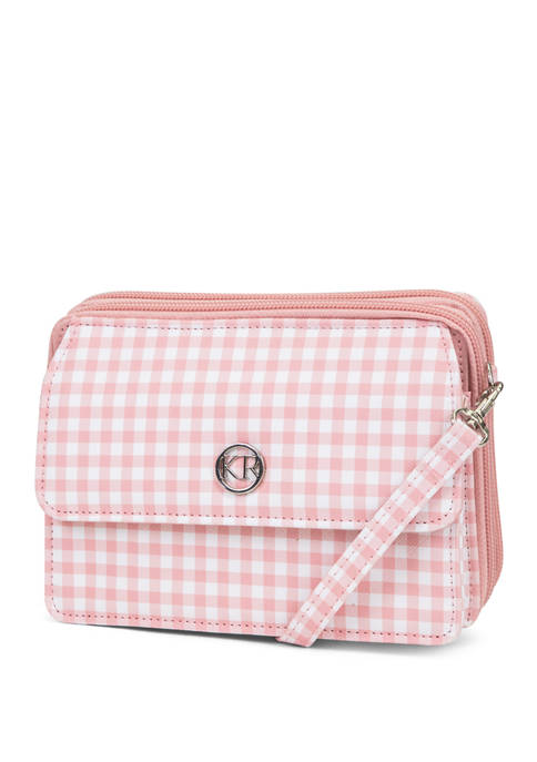 Kim Rogers® Gingham On The Move Crossbody Bag