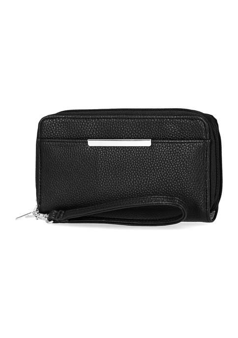Kim Rogers® Bonded Leather Sierra Double Zip Around