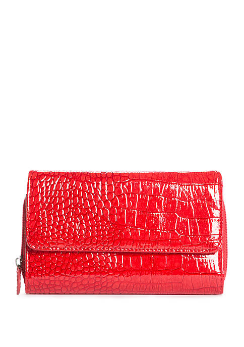 Kim Rogers® Crocodile Essential Wallet