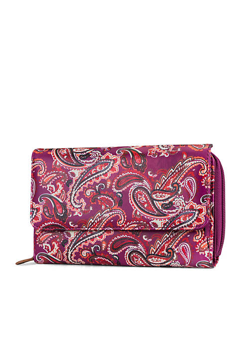 Kim Rogers® Raspberry Paisley Essentials Wallet