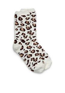 Leopard Knit Socks