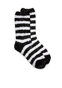 Lurex Stripe Butter Socks