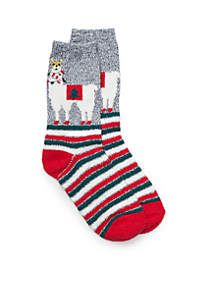 Alpaca with Lights Striped Socks