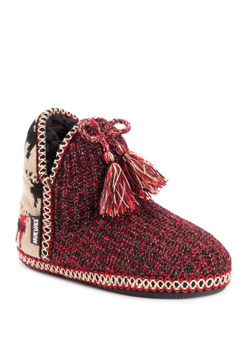 MUK LUKS® Amira Candy Coated Faux Fur Slippers