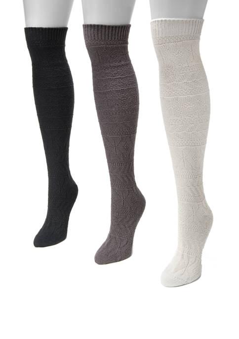 MUK LUKS® Womens Set of 3 Snowflake Knee