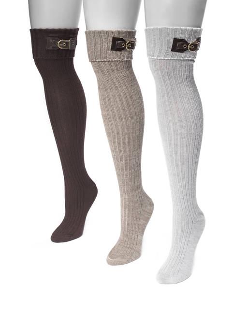MUK LUKS® Womens Set of 3 Buckle Cuff