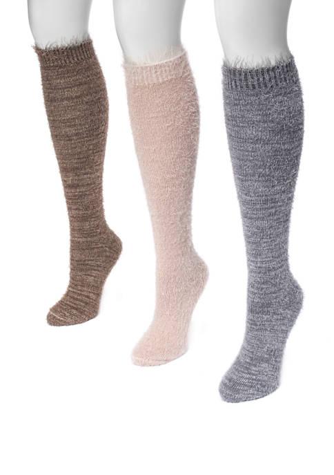 MUK LUKS® Womens Set of 3 Feather Yarn