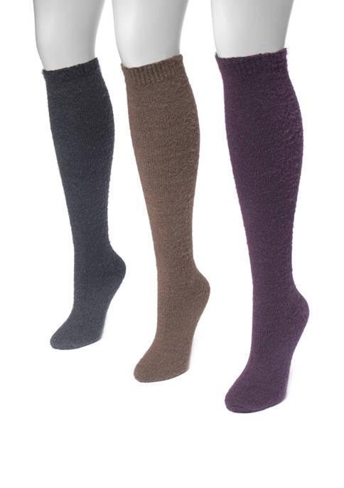 MUK LUKS® Womens Set of 3 Fuzzy Yarn