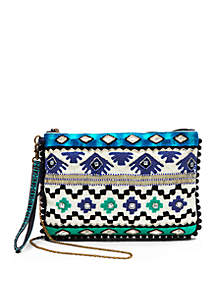 Beaded Fabric Clutch
