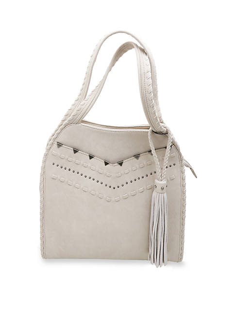 STEVEN Whipstitch Hobo Bag