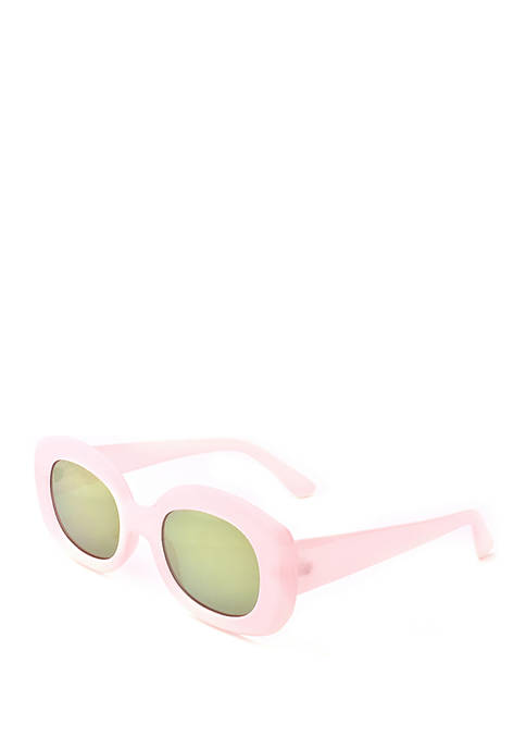 Pink Oval Sunglasses