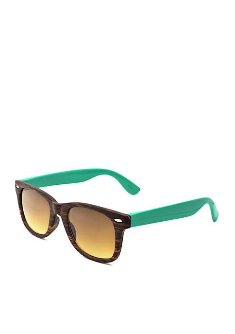 Woodgrain Wayfarer Sunglasses