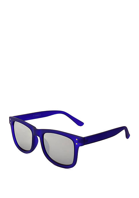 b718c8fec1 TRUE CRAFT Blue Rubberized Sunglasses