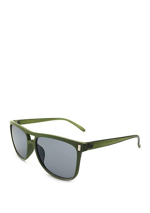 Square Green Sunglasses
