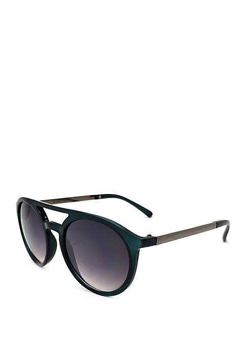TRUE CRAFT Green and Gunmetal Sunglasses