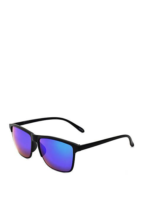 TRUE CRAFT Plastic Square Matte Black Sunglasses