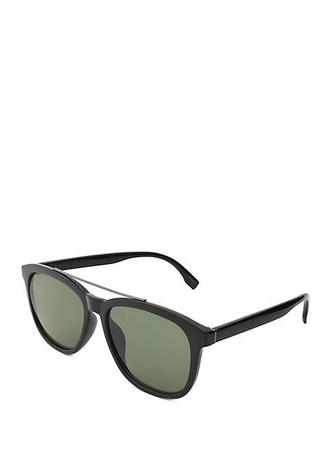 TRUE CRAFT Plastic Square Black Opaque Sunglasses