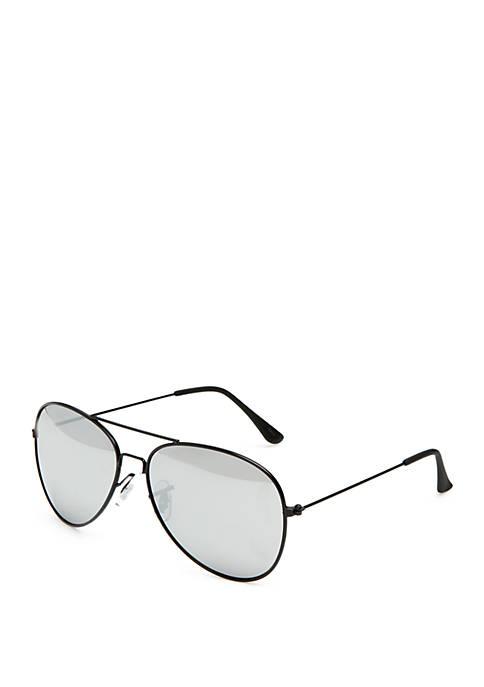 TRUE CRAFT Black Aviator Sunglasses