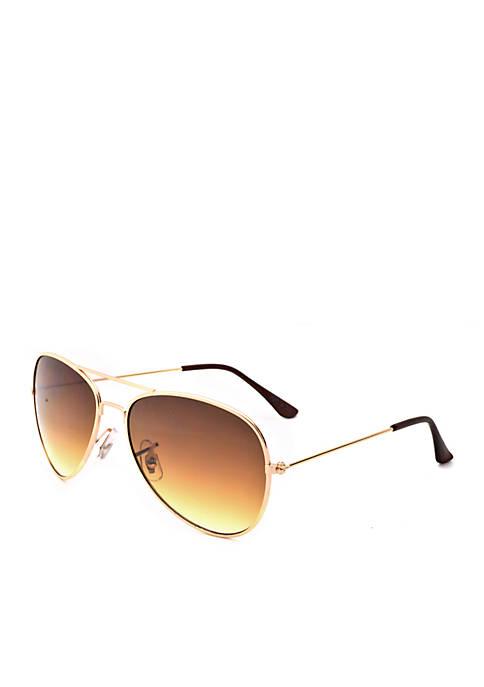 TRUE CRAFT Gold Aviator Sunglasses