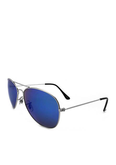 TRUE CRAFT Silver Aviator Sunglasses