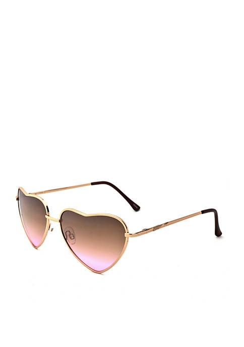 Heart Rose Gold Sunglasses