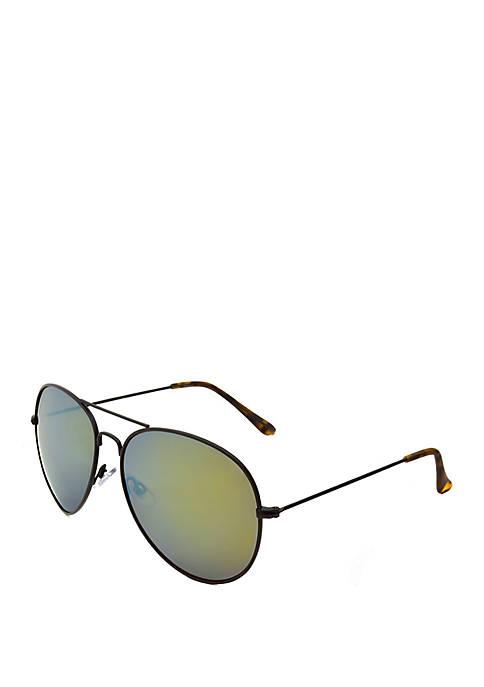 03ef364cc8 TRUE CRAFT Black and Tortoise Aviator Sunglasses
