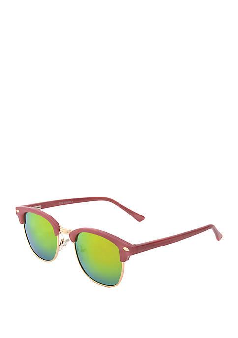 Smoke and Pink Sunglasses