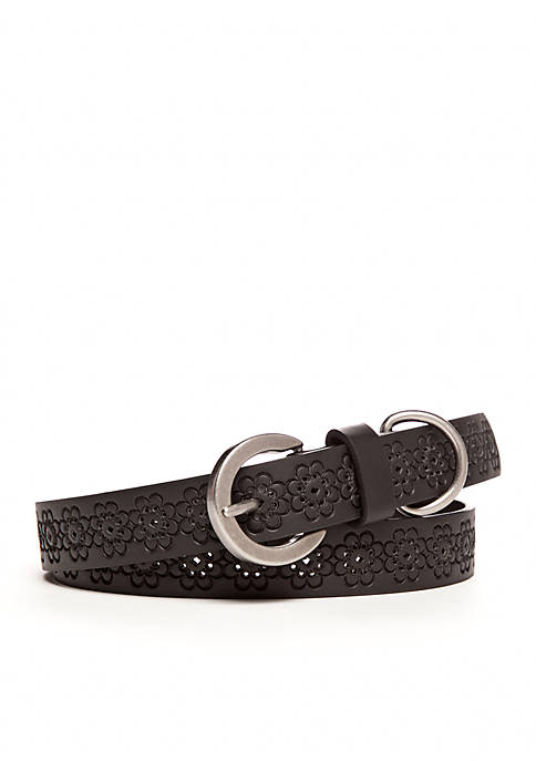 New Directions® Floral Embossed Belt
