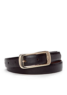 New Directions® Skinny Centerbar Buckle Reversible Belt