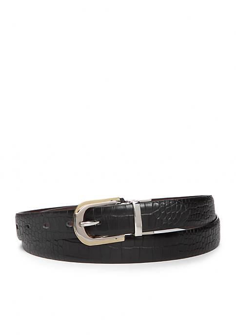 Two-Tone Buckle Reversible Belt