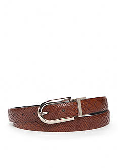 New Directions® Reversible Faux Snake Skin Belt