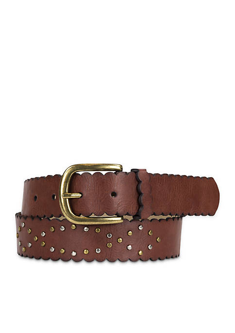 New Directions® Scallop Stud Belt