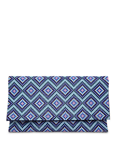 Nina Diamond Patterned Bead Clutch