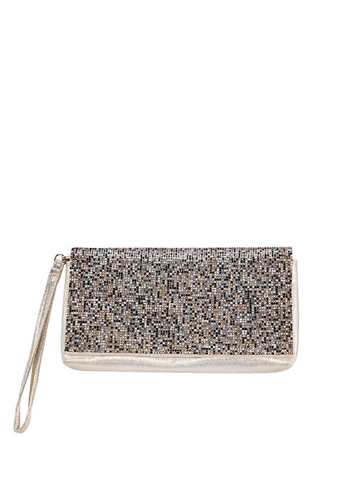 Nina Crystal Beaded Wristlet